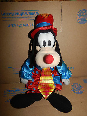 Disney Goofy as a Clown Plush  HTF