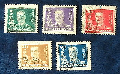 Hungary SC# 445-9, Used, 1925 Horthy Issue