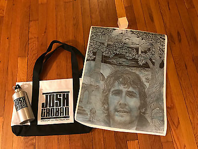 Josh Groban Poster, Water Bottle, Tote Bag: 100% to Find Your Light Foundation