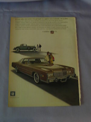 Vintage Advertisment Cadillac Cabriolet Car 1975 With 1932 355B