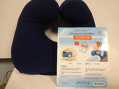 Chiropractic Neck Pillow Ergonomic Design Reduce Headaches
