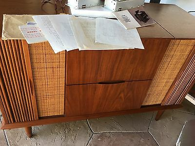 Vintage Ampex Tube Mono Amps Reel To Reel Fisher Am Fm Tuner Stereo Console