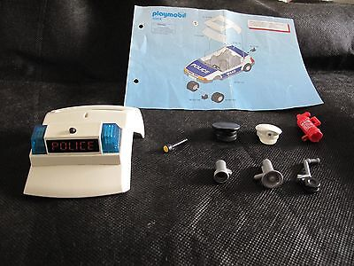 Playmobil parts from Police Car set # 3904