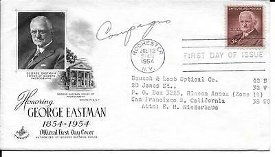 Scott #1062 - George Eastman FDC with autograph & contents