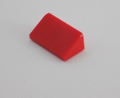 LEGO Lot of 4 Red 2x4 Double Roof Peak Slope Pieces