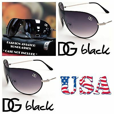 Men Women DG Eyewear Retro Bike Shield Sport Sunglasses UV Shades Avistor BLACK