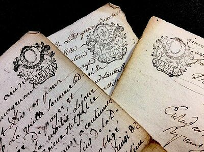 LOT OF THREE PAPERS 1790s