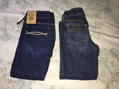 NWT Abercrombie Kids Girls Jeans size 5/6 & Used GAP Kids Jeans
