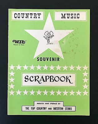 Vintage Country Music Souvenir Scrapbook Rare Green Var. Country, Grand Ole Opry
