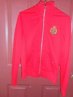 Chaps Women'S Jacket  Zip Front Red Long Sleeve Size S
