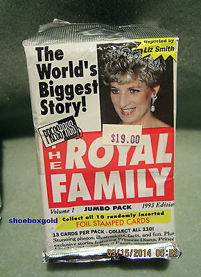 The Royal Family Factory Sealed Jumbo Pack - Queen Elizabeth, Princess Diana