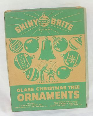 Vintage Christmas Shiny Brite  Empty Box With Lid and Dividers EXCELLENT