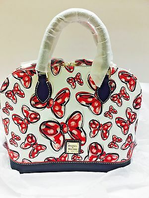 New Disney Dooney and Bourke Minnie Mouse Bows Satchel Bag