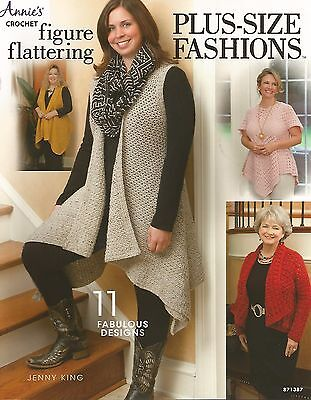 Figure Flattering Plus-Size Fashions Crochet Patterns Jenny King Annie's NEW