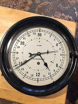 Chelsea - M Low 24-hr Dial Ship's Clock - Rare