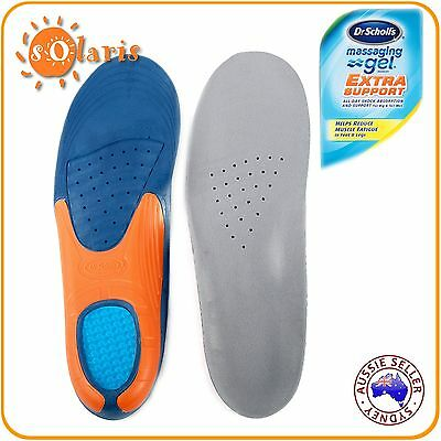 1 Pair Dr. Scholl's Massaging Gel Extra Support Insoles Men's US 8-14 (UK 7-13)