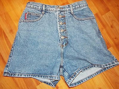 VINTAGE 1980's Womens Juniors Denim Jeans Bongo High Waist Button Fly