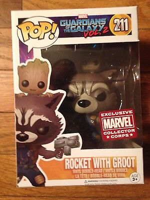 Funko Pop! Guardians of the Galaxy Rocket with Groot Marvel Corps Exclusive