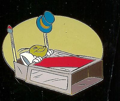 Disney AUCTIONS Pin JIMINY CRICKET Sleeping in MATCHBOX BED  moc