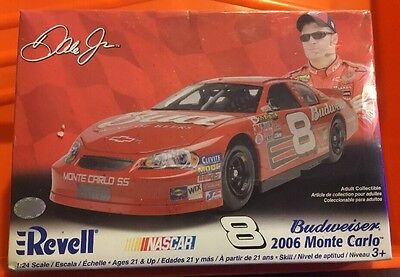 Revell 2006 #8 DALE EARNHARDT JR BUDWEISER MONTE CARLO 1/24 Scale Model Kit. NIB