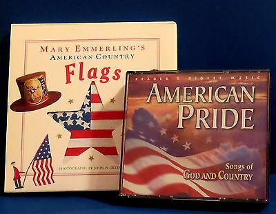 Readers Digest Amer Pride Songs of God & Country 4 CDs + Cntry Amer Flags 1st Ed