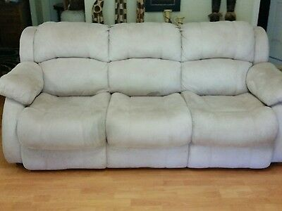 3 seat Very comfortable  biege velour bed settee