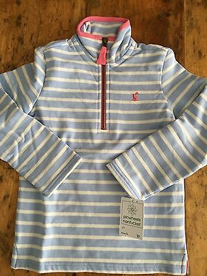 NWT Girl's Joules Blue Striped Pullover Top Size 6 Fits 5T 6Y NEW!