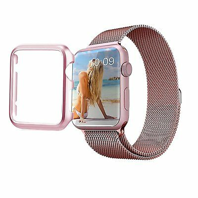 Rose Gold Apple Watch 42mm Series 2 Protective Case + Built in Screen Protector