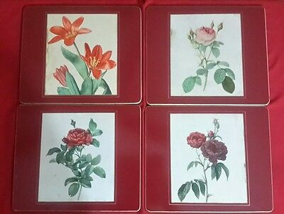 Set of  4 Vintage Lady Clare Flower Placemats