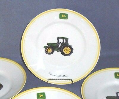 "John Deere Tractor ""Nothing rides like a Deere"" Yellow Rim 9"" Diameter set of 4"