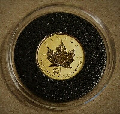 2001 Canada 1/20 oz. Gold $1 Maple Leaf w/ Viking Privy - Only 850 Minted
