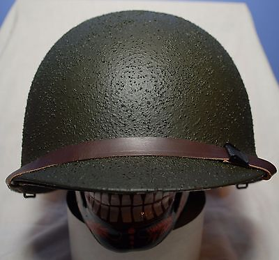 RECOND WWII US M1 FIXED BALE STEEL HELMET w/ WESTINGHOUSE LINER FRONT SEAM 1942