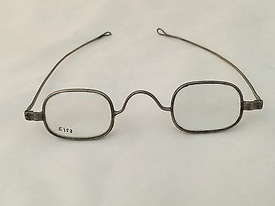 Early 1800's Silver Spectacles Rectangular Lenses & Marked Pure Coin