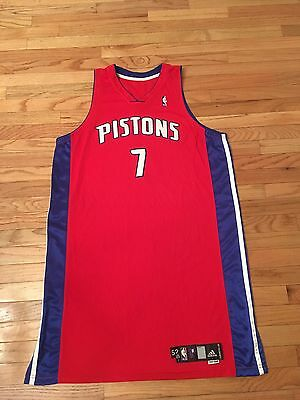 Primoz Brezec Detroit Pistons NBA Authentic 2007-08 Adidas Game Issued Jersey