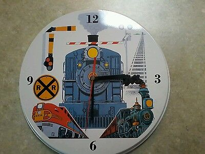 Railroad Clock Works Great Perfect Condition