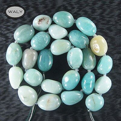 "Tumbled Amazonite 16"" Nugget Bead Strand 18x14x10mm-K0"