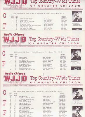 WJJD- Chicago,IL-3 Original Top 40/Country Music Radio Station Surveys-Oct. 1966