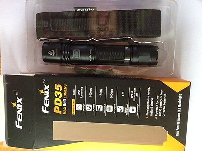 Fenix PD35 tactical flashlight outdoor camping LED torch 850 Lumens