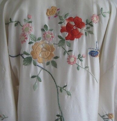 vintage 1920s art deco hand embroidered japanese export kimono