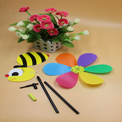 3D Rainbow Bee Windmill Wind Spinner Colorful Garden Outdoor Decoration DIY