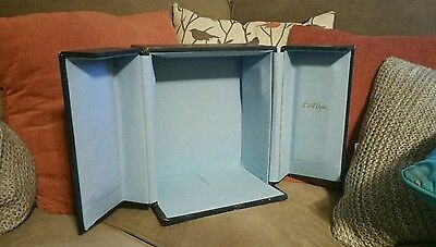 RARE Small VINTAGE ■ LORD ELGIN ■ Blue Wooden Padded Lined Box / case / Chest