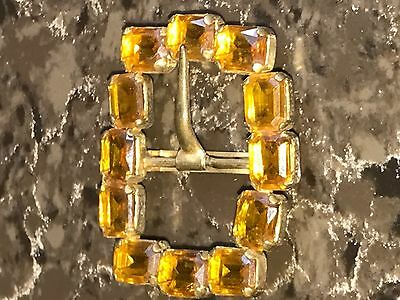Victorian Belt Buckle Sash Topaz Gorgeous Glass Beauty From Days Gone