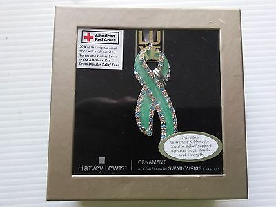 NEW!!! Harvey Lewis Awareness Ornament Red Cross Relief Support /Swarovski  !!!!