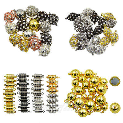 Crystal Rhinestone Strong Magnetic Clasp Connector For Bracelet Necklace Making