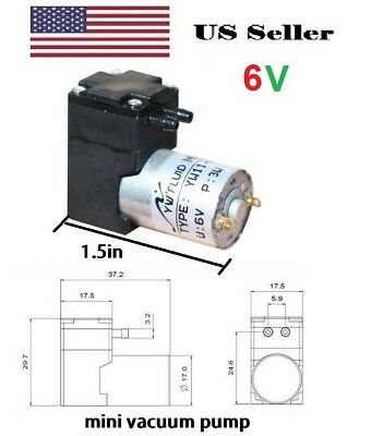 small DC 6V  pump Water Oil Liquid ink gas sampling vacuum pump 180mL/min 10M