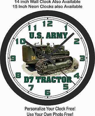U.s. Army D7 Tractor Wall Clock-Marines, Air Force, Navy