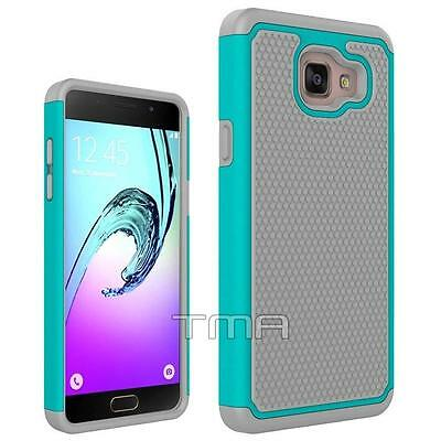Fits Samsung Galaxy A5 2017 Case Rugged Rubber Shockproof Impact Hybrid - Teal