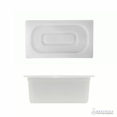 12x Food Pan with Clear Lid 1/3 GN Size 150mm Deep Polypropylene Gastronorm