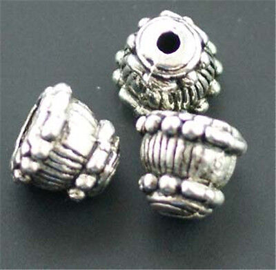 Wholesale Lot 100pcs Tibet Silver Bead Caps For Jewelry Making 8x9mm