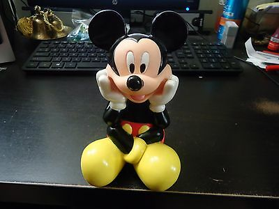 Vintage Mickey Mouse Plastic Bank